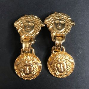 Vintage Versace Medusa clip on earrings
